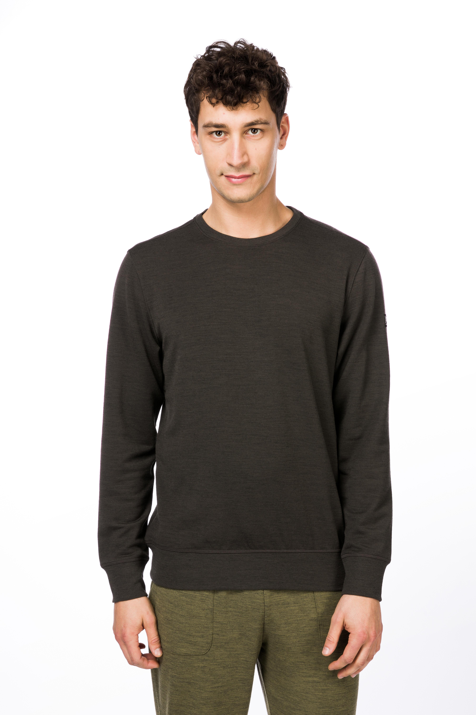 d35a422abc4e5 super.natural Waterton - T-shirt manches longues Homme - marron sur ...